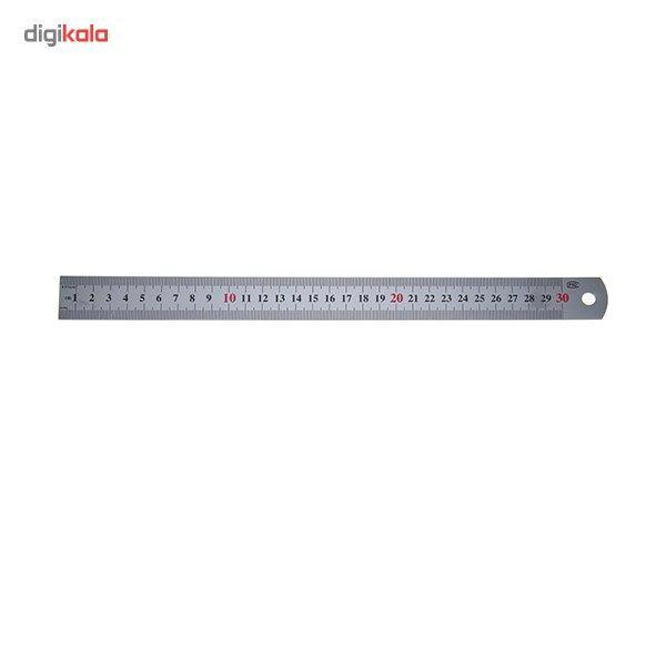خط کش فوسکا مدل فلزی سایز 30 سانتی متر main 1 1