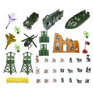 اسباب بازی جنگی مدل پادگان مجموعه 37 عددی