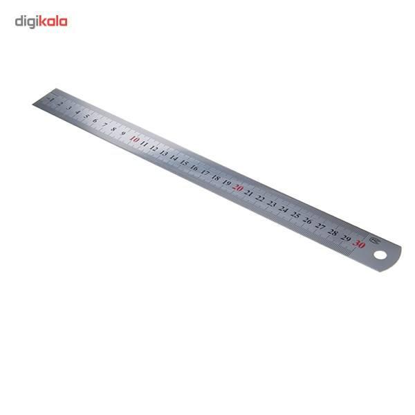 خط کش فوسکا مدل فلزی سایز 30 سانتی متر main 1 2