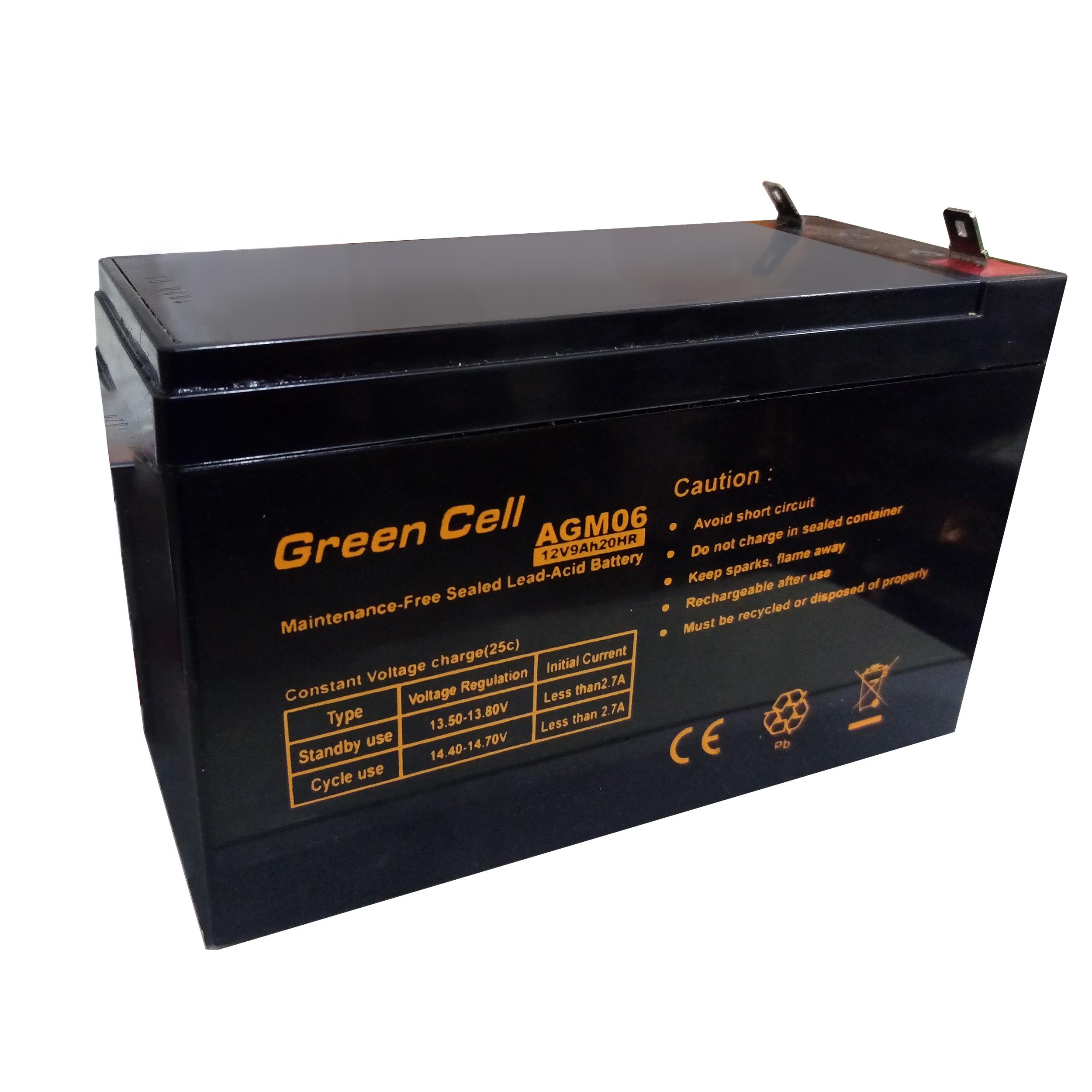 باتری یو پی اس 12 ولت 9 آمپر ساعت گرین سل مدل GC-9Ah
