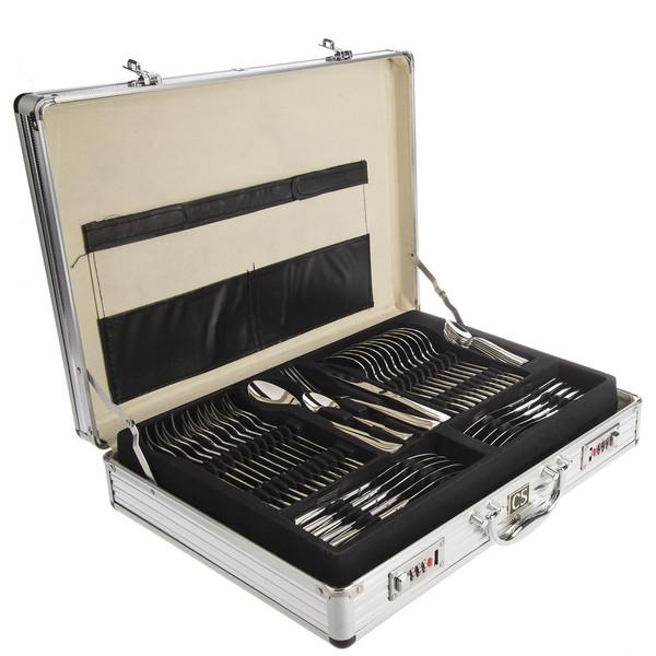 سرویس 92 پارچه قاشق و چنگال کارل اشمیت مدل A Sapor طرح جعبه آلومینیومی