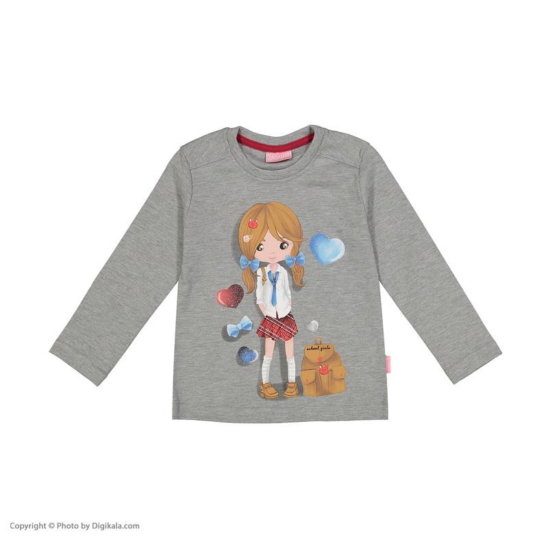 ست تی شرت و شلوار راحتی دخترانه بانی نو مدل 2191103-91