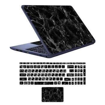 استیکر لپ تاپ طرح marble کد 01 مناسب برای لپ تاپ 17 اینچی به همراه برچسب حروف فارسی کیبورد