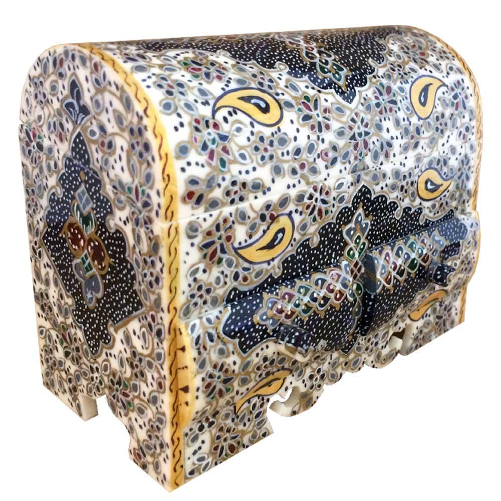 جعبه جواهرات استخوانی طرح تذهیب کد B 236