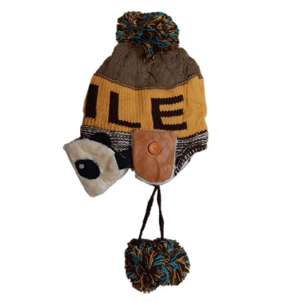 کلاه بافتنی بچگانه طرح پاندا کد 2