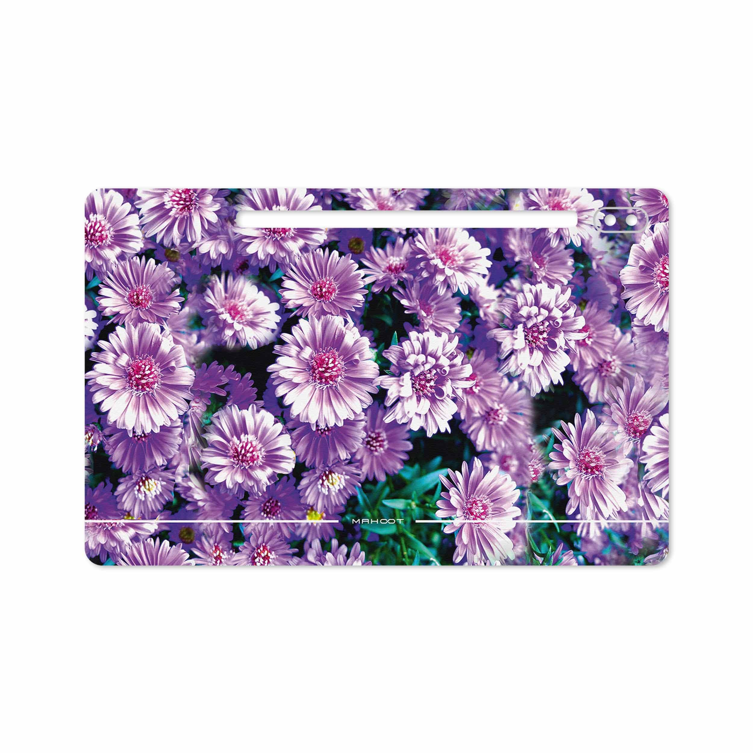 بررسی و خرید [با تخفیف]                                     برچسب پوششی ماهوت مدل Purple-Flower مناسب برای تبلت سامسونگ Galaxy Tab S6 2019 SM-T865                             اورجینال
