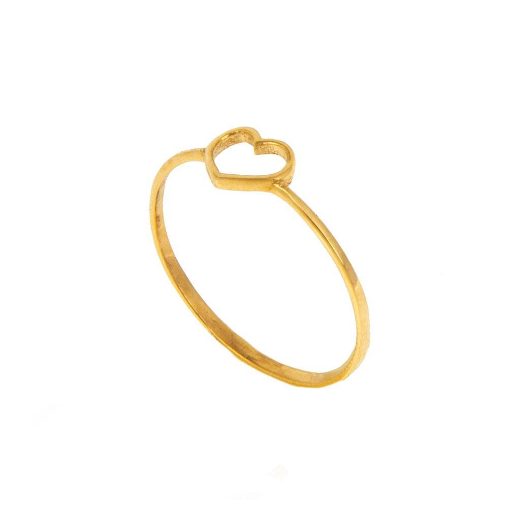 انگشتر طلا 18 عیار زنانه گالری مرجان طرح قلب مدل 0985