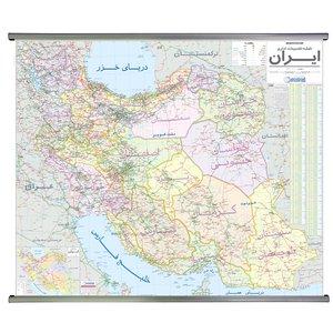 نقشه تقسیمات اداری ایران گیتاشناسی نوین کد L1390