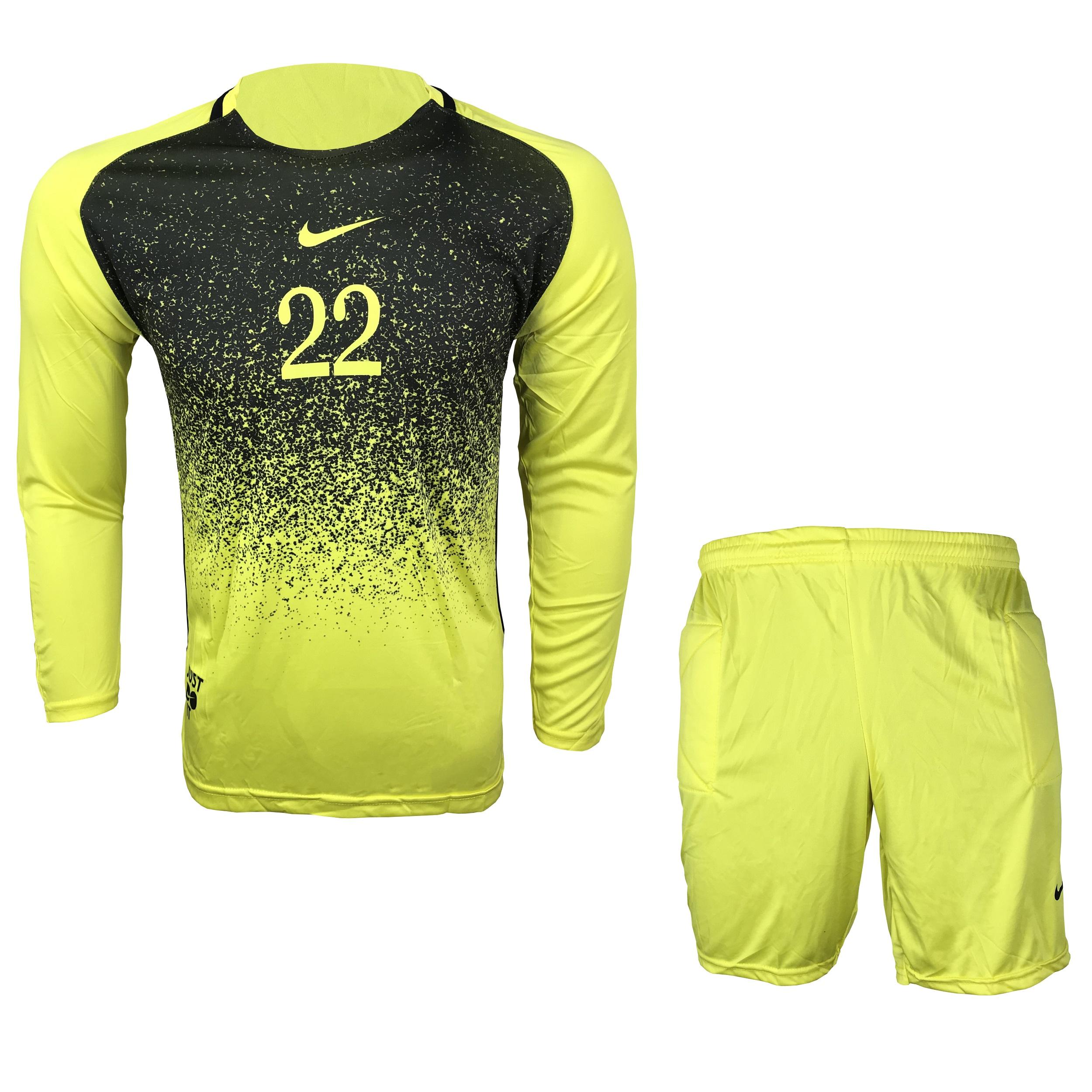 ست پیراهن و شورت دروازه بانی مردانه مدل N-Y22
