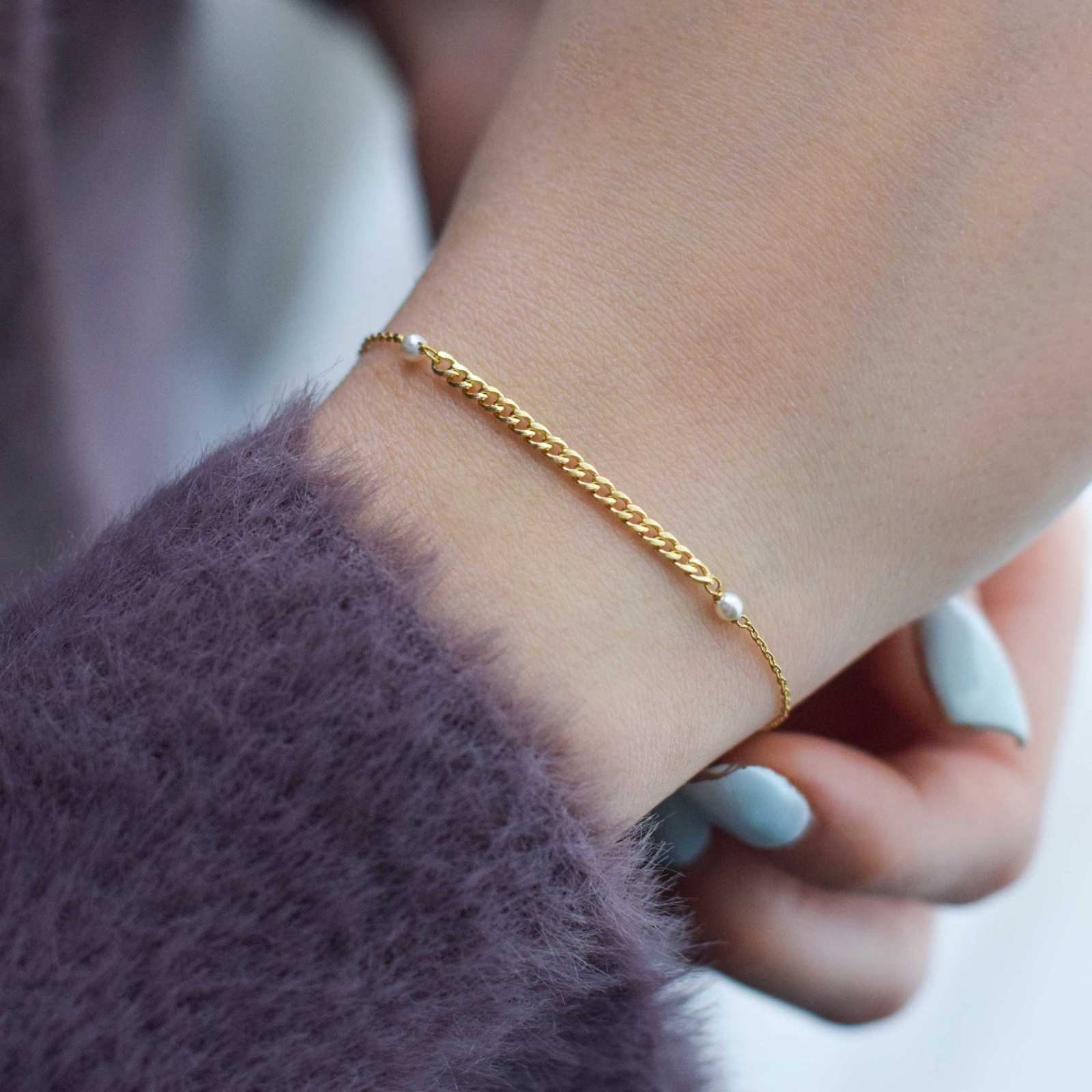 دستبند طلا 18 عیار زنانه نیوانی مدل DA818 -  - 7
