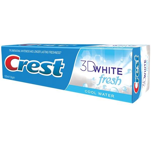 خمیر دندان کرست مدل 3D White Fresh Cool Water حجم 100 میلی لیتر