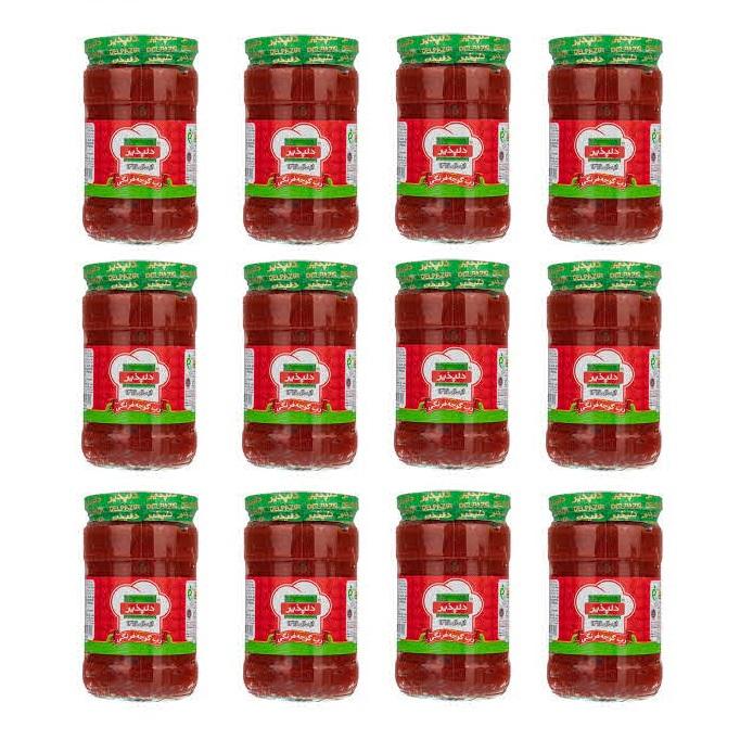 رب گوجه فرنگی دلپذیر - 680 گرم بسته 12 عددی