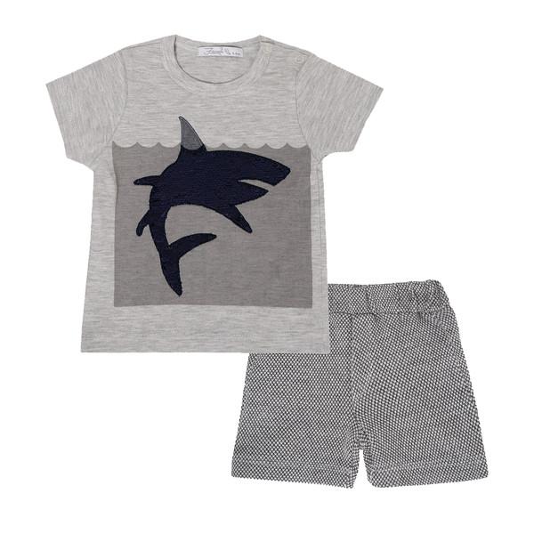 ست تی شرت و شلوارک نوزادی فیورلا مدل 21044