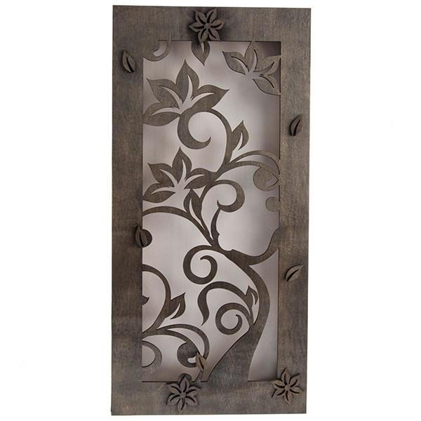 تابلو چوبی گالری اگزیس طرح گل کد 63002