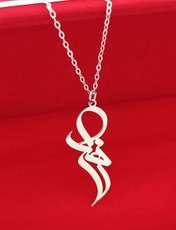 گردنبند نقره زنانه ترمه 1 طرح زهرا کد mas 0033 -  - 2