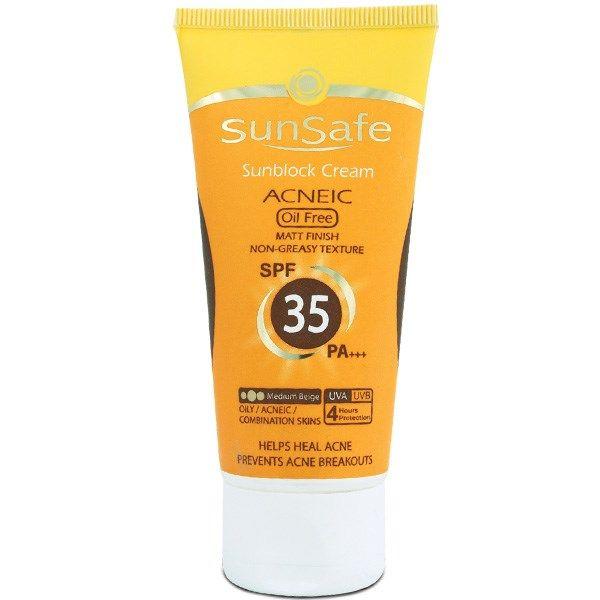 کرم ضد آفتاب آنتی آکنه سان سیف SPF35