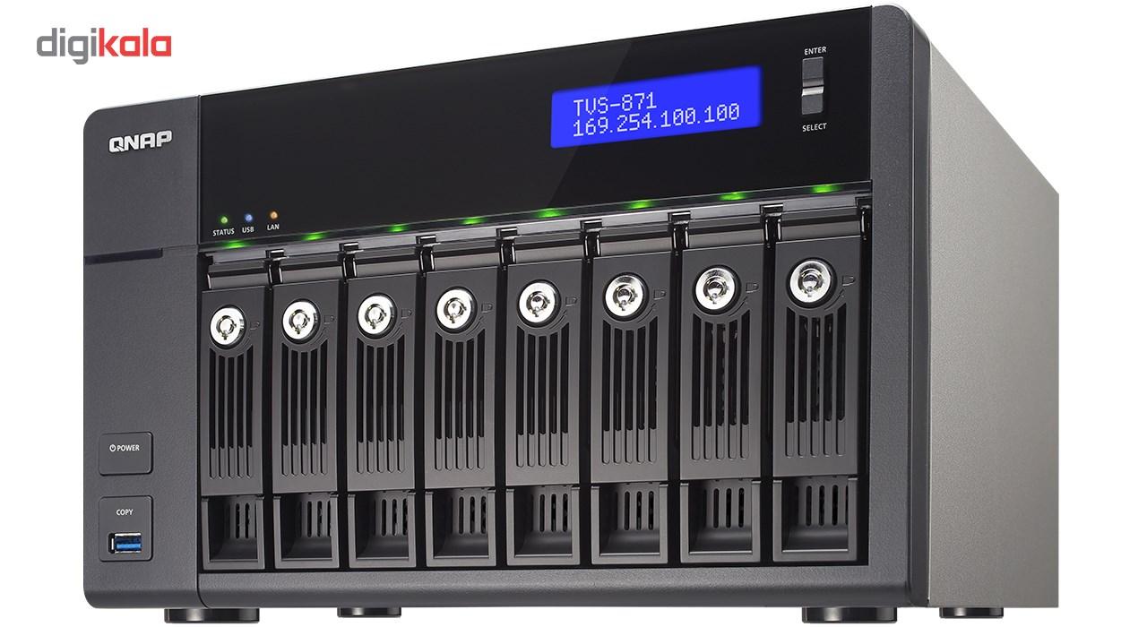 ذخیره ساز تحت شبکه کیونپ مدل TVS-871-i3-4G بدون هارددیسک