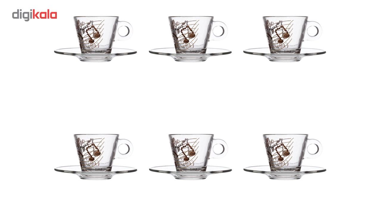 فنجان و نعلبکی شروه مدل M55620 - بسته 6 عددی