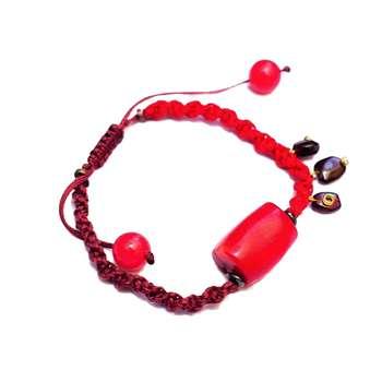 دستبند زنانهمدل سنگ و بافت