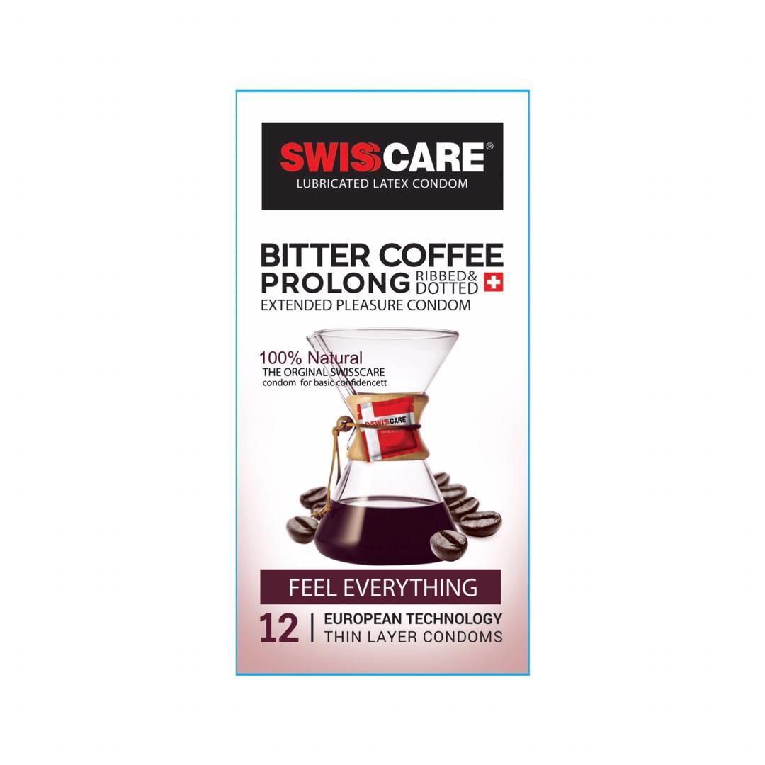 کاندوم سوئیس کر مدل Bitter Coffee Prolong بسته 12 عددی