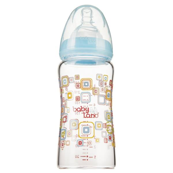 شیشه شیر بیبی لند مدل 375Square ظرفیت 240 میلی لیتر