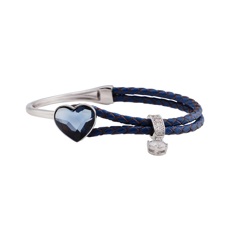 دستبند زنانه سواروسکی مدل قلب کد B1001