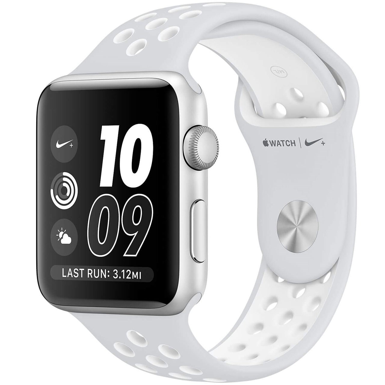 ساعت هوشمند اپل واچ سری 2 مدل Nike Plus 38mm Silver Aluminum Case with Pure Platinum/White Nike Sport Band
