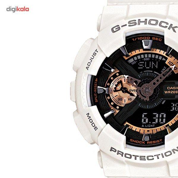 ساعت مچی عقربه ای کاسیو سری جی شاک مدل GA-110RG-7ADR مناسب برای آقایان -  - 2