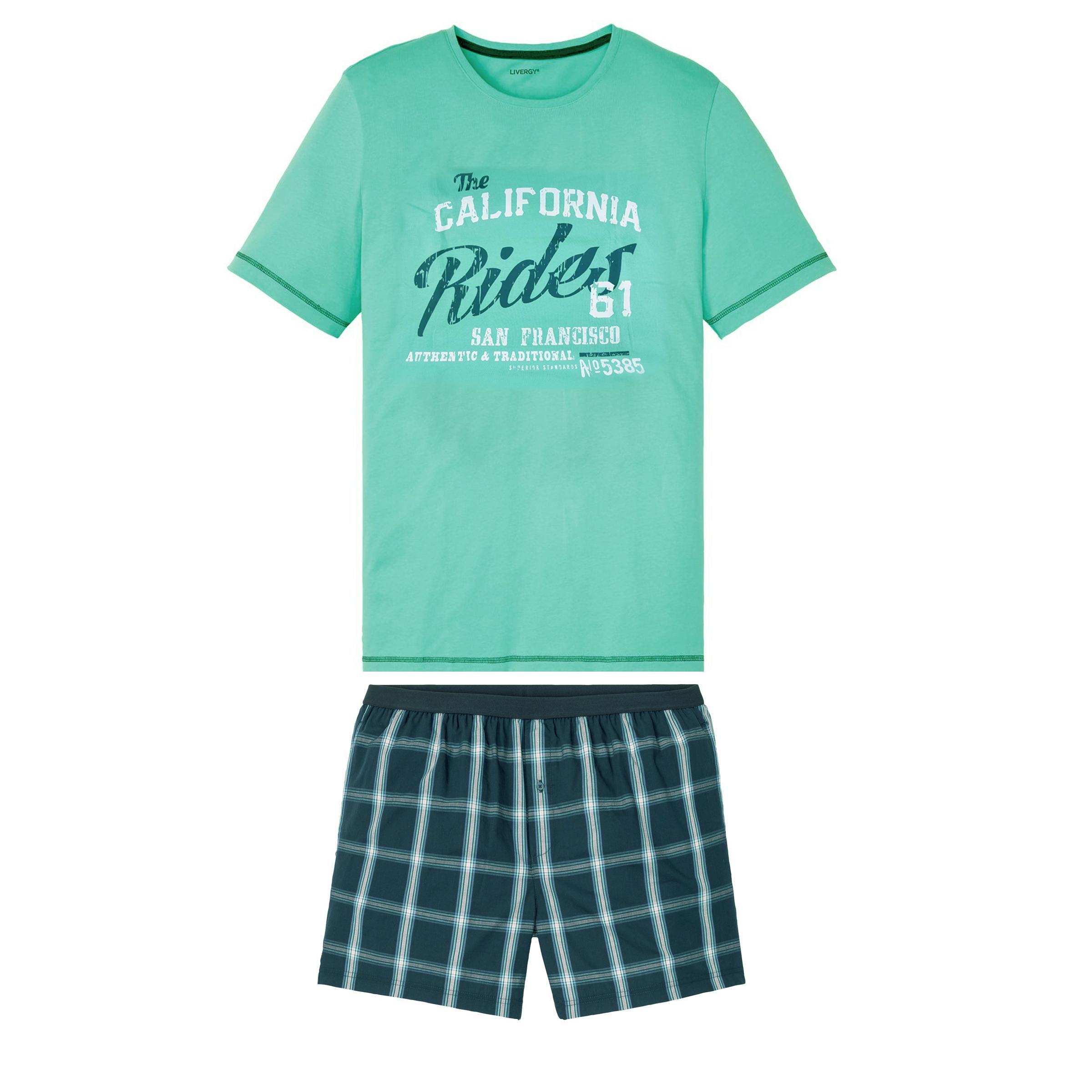 ست تی شرت و شلوارک مردانه لیورجی کد GR275767
