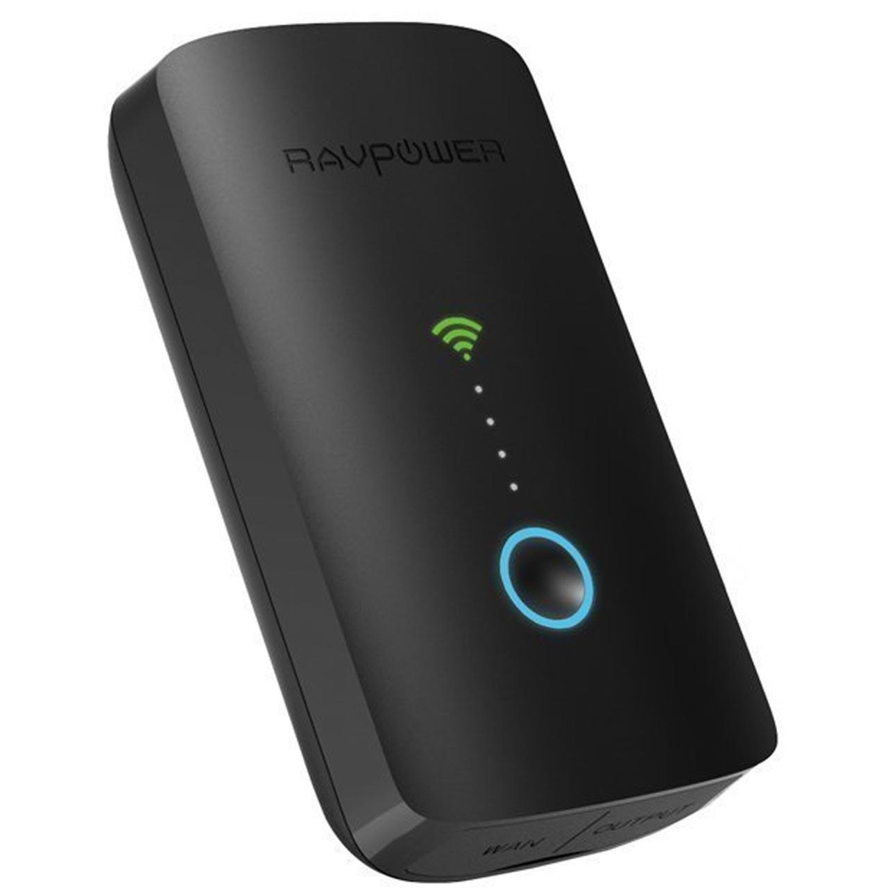 روتر بی سیم و شارژر همراه راوپاور مدل RP-WD03 ظرفیت 6000 میلی آمپرساعت