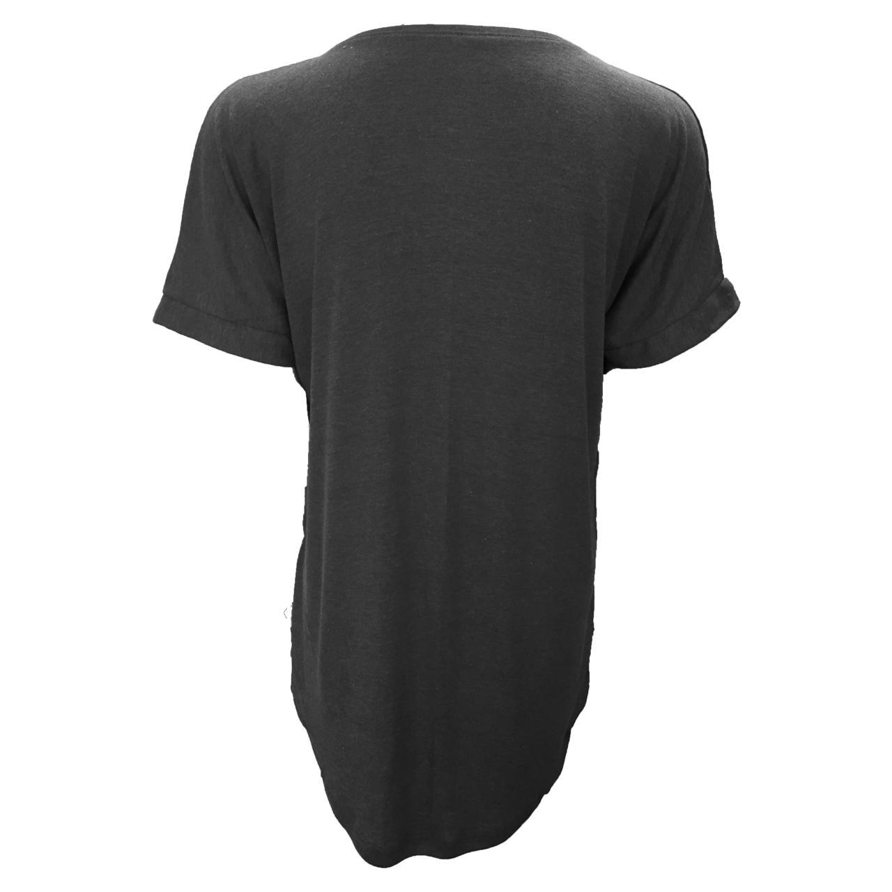 تی شرت آستین کوتاه زنانه مدل WATERFALL کد tms-1012 رنگ طوسی
