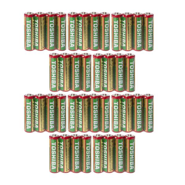 باتری قلمی توشیبا مدل Heavy Duty R6 مجموعه 40 عددی