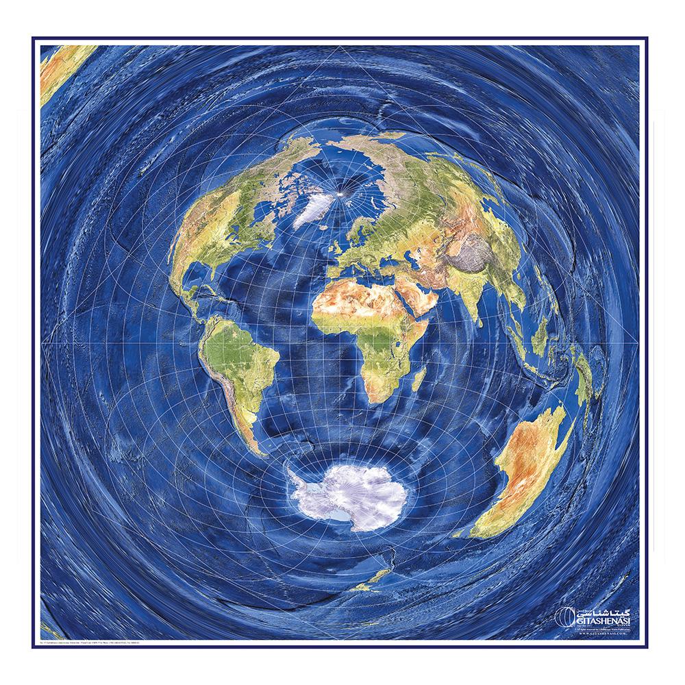 پوستر آموزشی گیتاشناسی نوین طرح کره زمین  مدل ۲۰۰۲