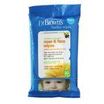 دستمال مرطوب کودک دکتر براونز مدل D002
