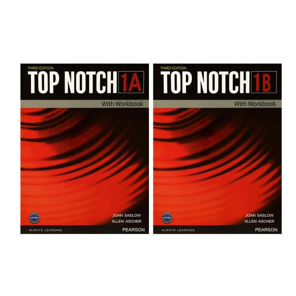کتاب Top Notch 1 اثر Joan Saslow and Allen Ascher انتشارات هدف نوین 2 جلدی