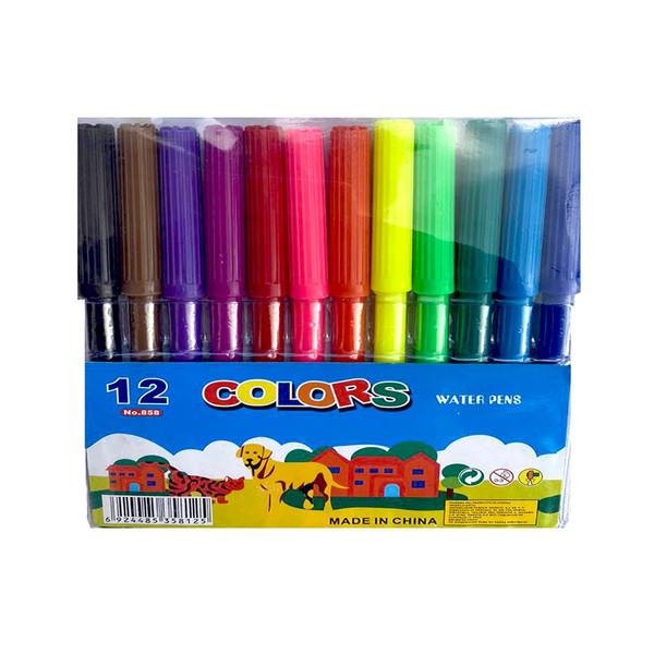 ماژیک رنگ آمیزی 12 رنگ کد 858