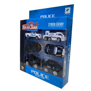 ماشین بازی مدل پلیس کد 110 مجموعه 6 عددی