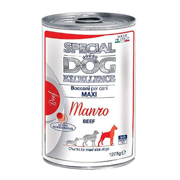 کنسرو غذای سگ اسپشیال داگ مدل Chunks Maxi Beef وزن 1275 گرم