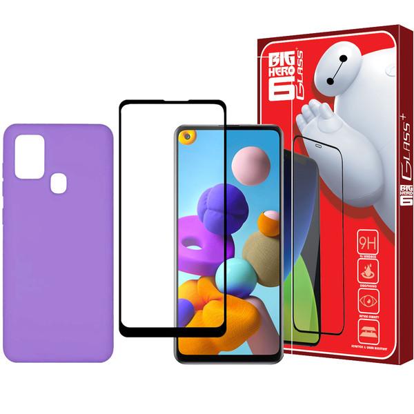 کاور مدل M2 مناسب برای گوشی موبایل سامسونگ Galaxy A21s به همراه محافظ صفحه نمایش