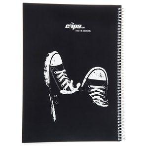 دفتر 100 برگ کلیپس جلد شومیز طرح آل استار