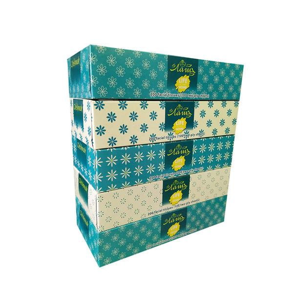 دستمال کاغذی 100 برگ چشمک مدل Golak مجموعه 5 عددی