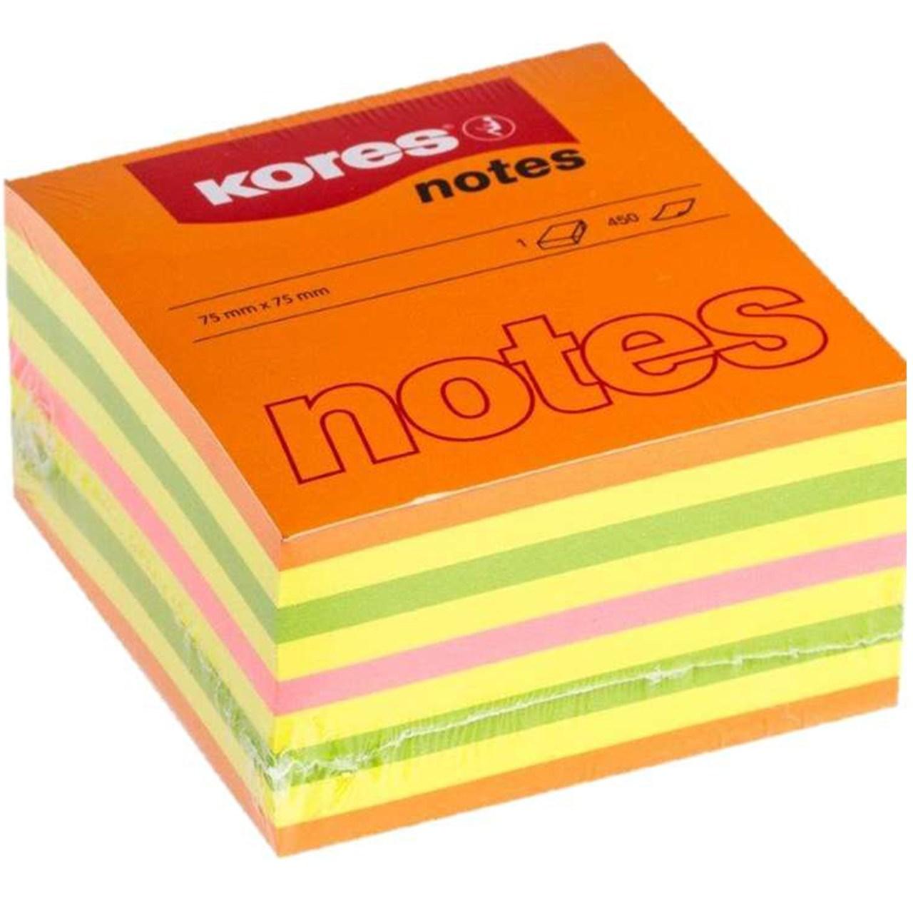 کاغذ یادداشت چسب دار کورس کد 48465 بسته 450 عددی