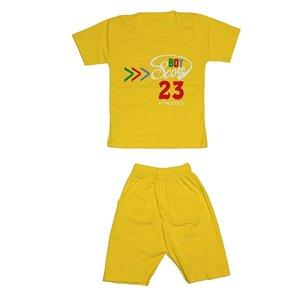 ست تی شرت و شلوارک دخترانه کد 4444YL