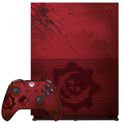 مجموعه کنسول بازی مایکروسافت مدل  Xbox One S ظرفیت 2 ترابایت طرح Gears Of War 4