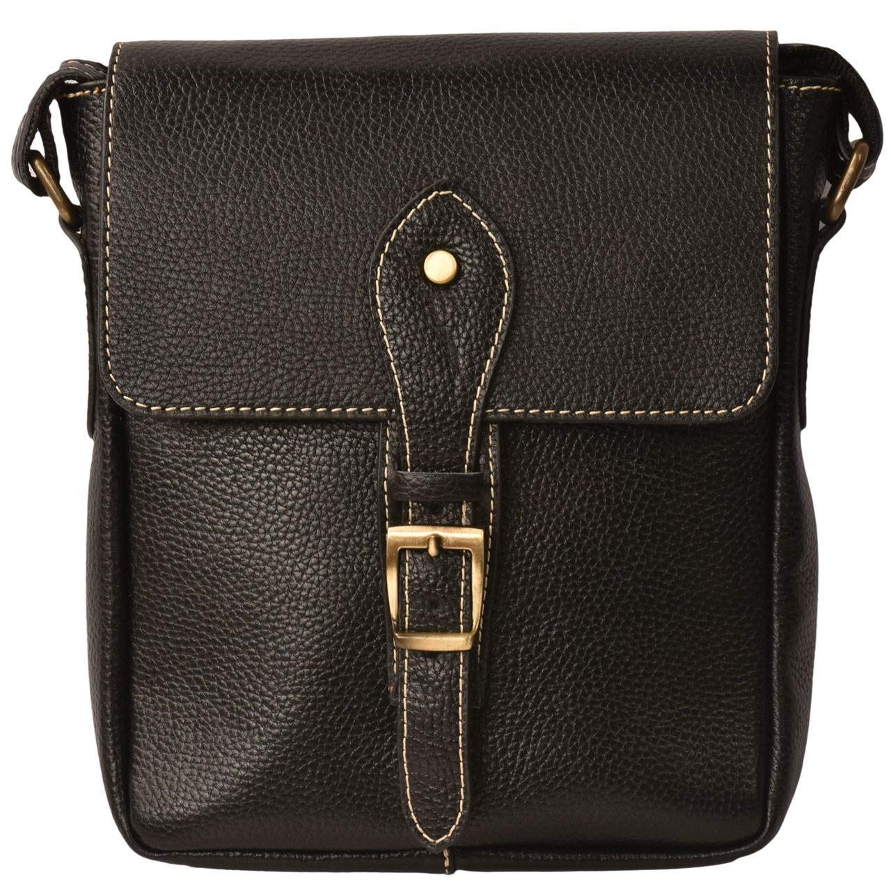 کیف دوشی چرم طبیعی کهن چرم مدل db67-1