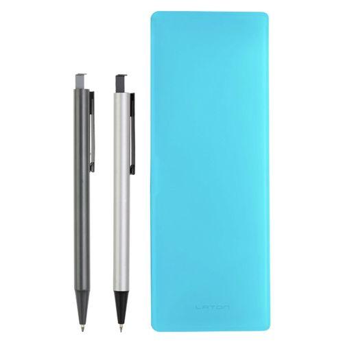 ست خودکار مدادنوکی و جامدادی لاتن مدل Dark Blue