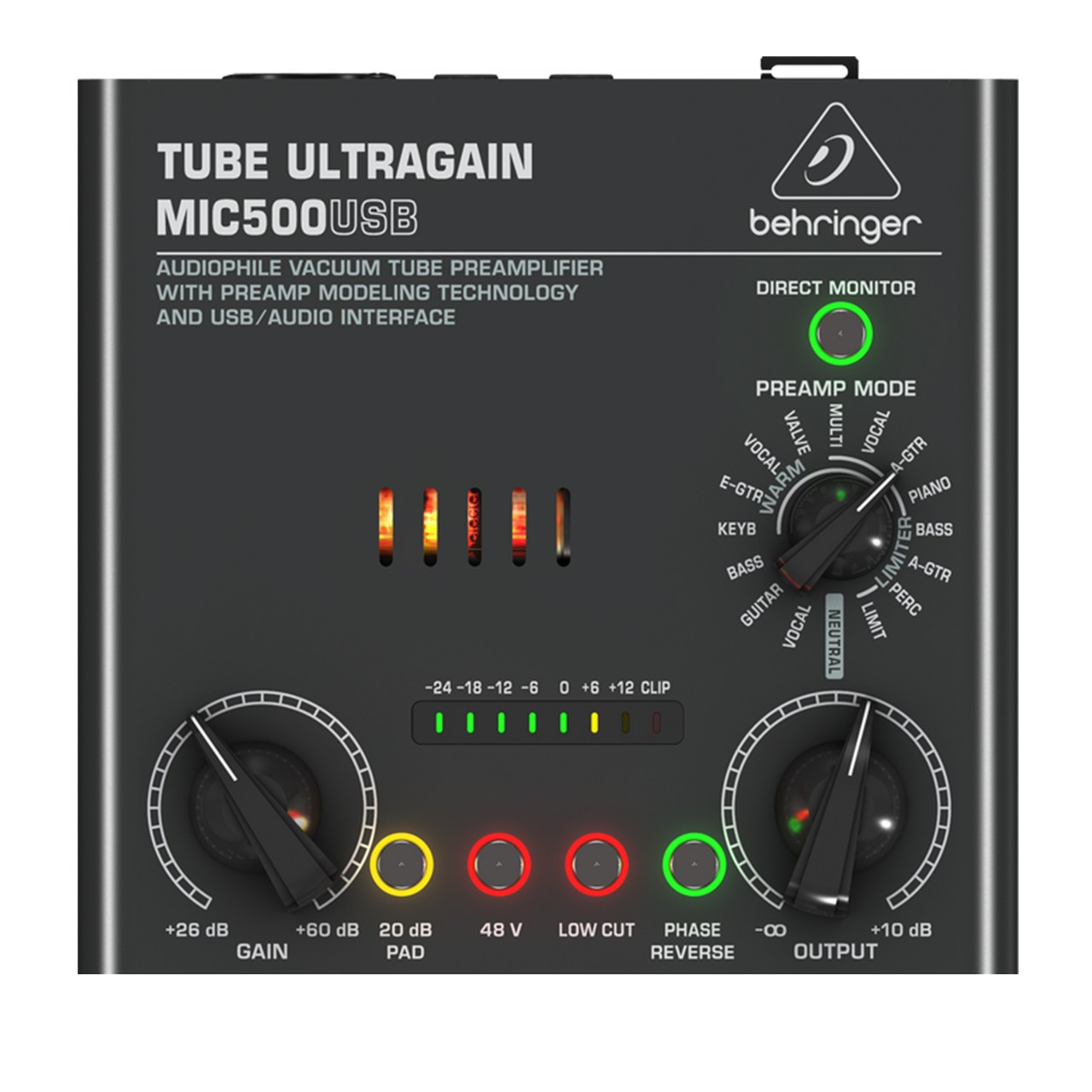 پری آمپلی فایر بهرینگر مدل MIC500USB Audiophile Vacuum Tube