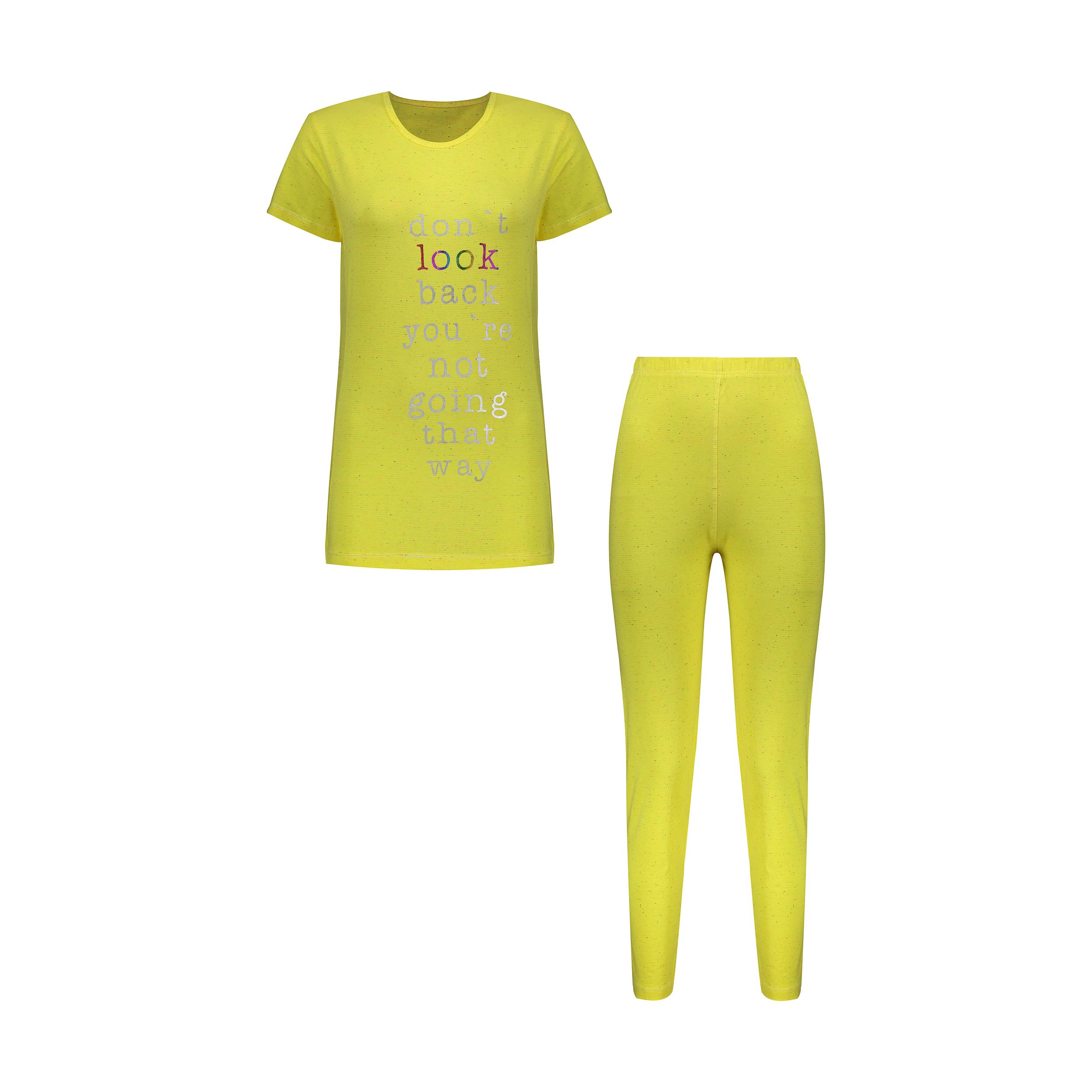 ست تی شرت و لگینگ زنانه مدل 358235210