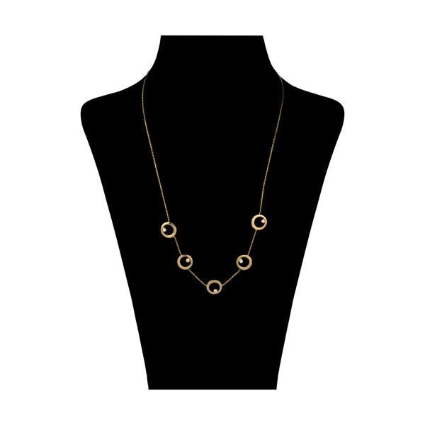 گردنبند طلا 18 عیار زنانه سنجاق مدل x089828