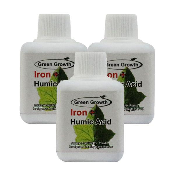 کود مایع اسید هیومیک و آهن گرین گروت بسته 3 عددی